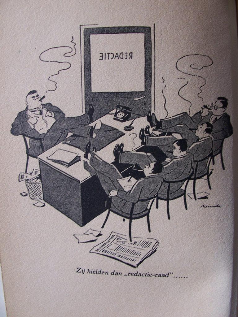 Afbeelding uit: De zeeslang van Flip Fluit, een journalistiek verhaal van journalisten, Jan Lamers, De Nederlandsche Keurboekerij, 1940